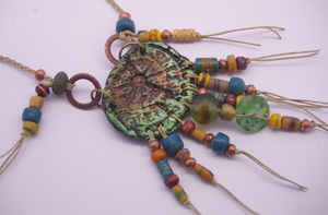 GREEN CLAY NECKLACE 1C