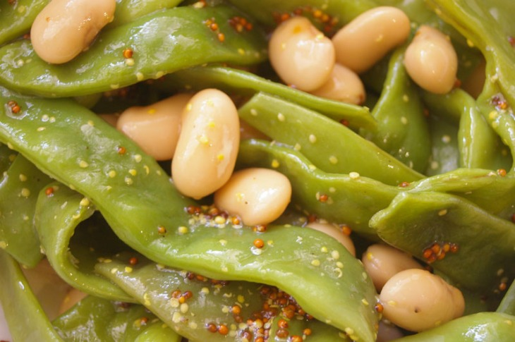 FLAT BEAN AND BUTTERBEAN SALAD